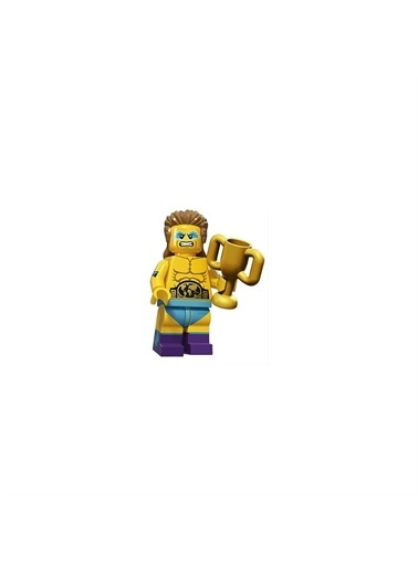 Lego Lego Minifigür - Seri 15 - 71011 - Wrestling Chamşion Renkli